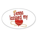 Jenna Lassoed My Heart Sticker (Oval)