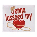 Jenna Lassoed My Heart Throw Blanket