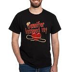 Jennifer Lassoed My Heart Dark T-Shirt