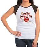 Jennifer Lassoed My Heart Women's Cap Sleeve T-Shi