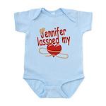 Jennifer Lassoed My Heart Infant Bodysuit