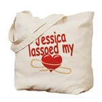 Jessica Lassoed My Heart Tote Bag