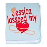 Jessica Lassoed My Heart baby blanket