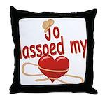 Jo Lassoed My Heart Throw Pillow