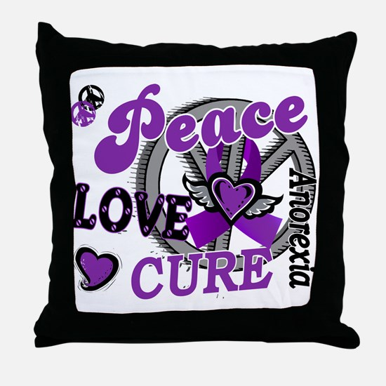 Peace Love Cure 2 Anorexia Shirts Gifts Throw Pill