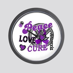 Peace Love Cure 2 Anorexia Shirts Gifts Wall Clock