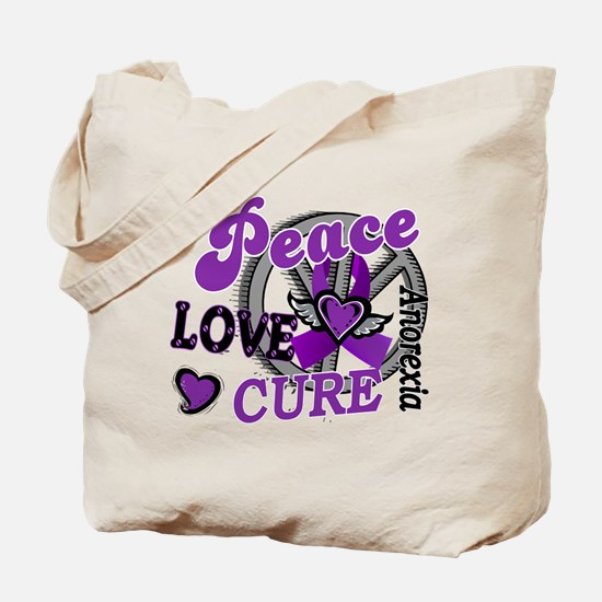Peace Love Cure 2 Anorexia Shirts Gifts Tote Bag