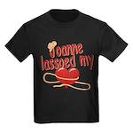 Joanne Lassoed My Heart Kids Dark T-Shirt