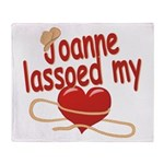 Joanne Lassoed My Heart Throw Blanket