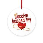 Jocelyn Lassoed My Heart Ornament (Round)