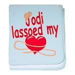 Jodi Lassoed My Heart baby blanket