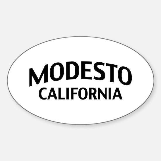 Modesto california sticker oval