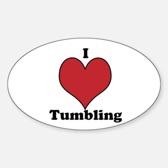 I Love Tumbling Sticker (Oval)
