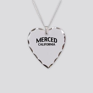 Merced California Necklace Heart Charm