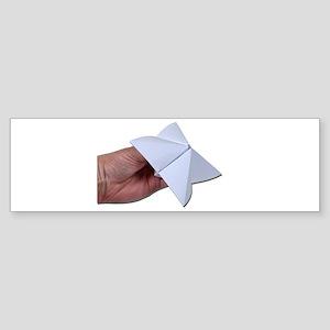 Holding Paper Decision Maker Sticker (Bumper)