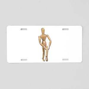 Knee Pain Aluminum License Plate