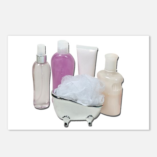 Lotion Cream Scrubber Tub Postcards (Package of 8)