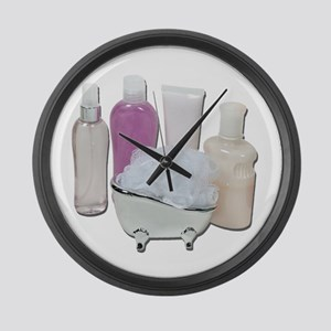 Lotion Cream Scrubber Tub Large Wall Clock