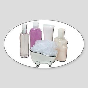 Lotion Cream Scrubber Tub Sticker (Oval)
