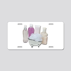 Lotion Cream Scrubber Tub Aluminum License Plate
