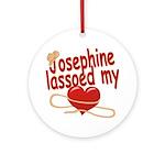 Josephine Lassoed My Heart Ornament (Round)