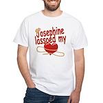 Josephine Lassoed My Heart White T-Shirt