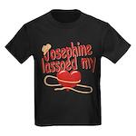 Josephine Lassoed My Heart Kids Dark T-Shirt