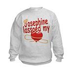 Josephine Lassoed My Heart Kids Sweatshirt