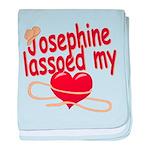 Josephine Lassoed My Heart baby blanket