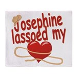 Josephine Lassoed My Heart Throw Blanket