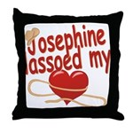 Josephine Lassoed My Heart Throw Pillow
