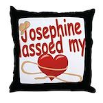 Josephine Lassoed My Heart Throw Pillow