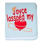 Joyce Lassoed My Heart baby blanket
