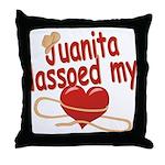 Juanita Lassoed My Heart Throw Pillow
