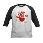 Judith Lassoed My Heart Kids Baseball Jersey
