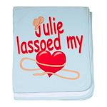 Julie Lassoed My Heart baby blanket