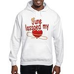 June Lassoed My Heart Hooded Sweatshirt