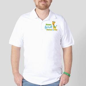 Giraffe 1st Fathers Day Golf Shirt