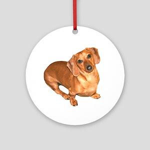 Tiger Doxie Ornament (Round)