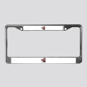 Owl be Yours, cute Owl and he License Plate Frame