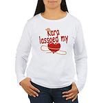 Kara Lassoed My Heart Women's Long Sleeve T-Shirt