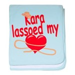 Kara Lassoed My Heart baby blanket