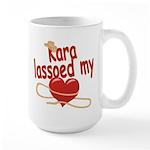 Kara Lassoed My Heart Large Mug
