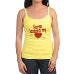 Karen Lassoed My Heart Jr. Spaghetti Tank