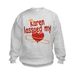 Karen Lassoed My Heart Kids Sweatshirt