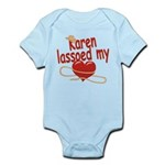 Karen Lassoed My Heart Infant Bodysuit