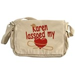 Karen Lassoed My Heart Messenger Bag