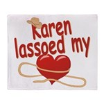 Karen Lassoed My Heart Throw Blanket
