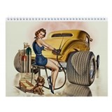 Retro pinups hot rod Calendars
