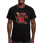 Katelyn Lassoed My Heart Men's Fitted T-Shirt (dar